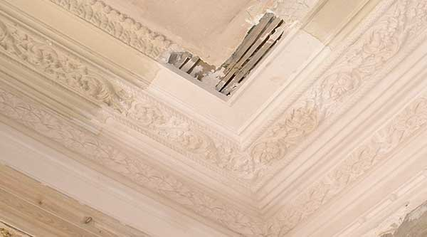 Ornate cornice restoration